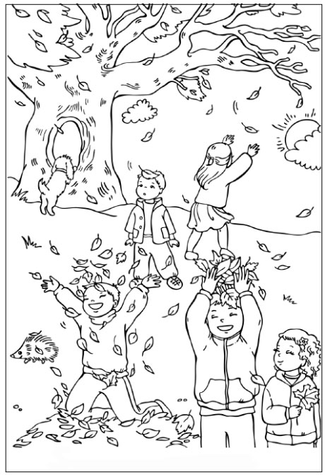 catching-leaves-coloring-page