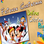 friends-christmas-online-coloring-page-150x150