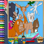 jungle-emperor-leo-kimba-online-coloring-page-150x150