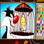 sylvester-tweety-online-coloring-page-150x150